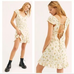 NEW Free People Like a Lady Yellow Lemon Dress